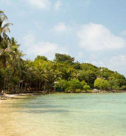 beautiful bay with clear water in Karimunjawa island